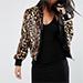 Asos Bomber Jacket In Faux Fur Leopard