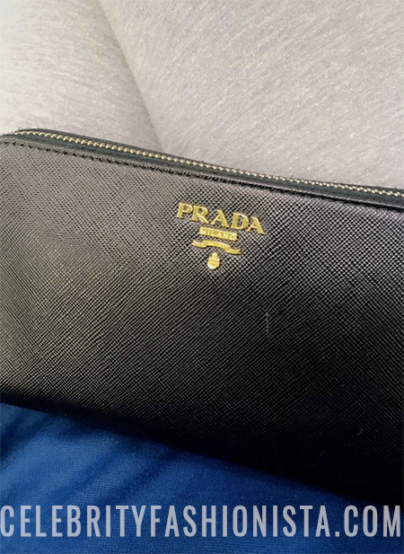 Faryal Makhdoom, Prada Textured-leather Continental Wallet (Snapchat, Feb 2017)