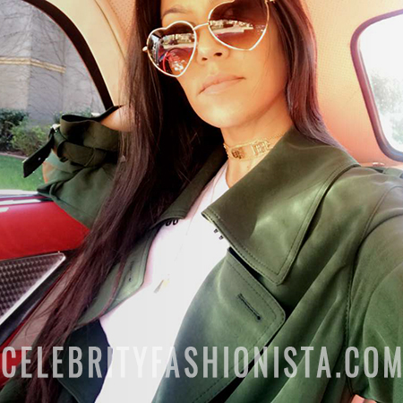 Kourtney Kardashian, AJ Morgan Heart-Shaped Sunglasses (Snapchat, Feb 14 2017)