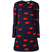Victoria Beckham Lip Print Dress