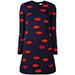 Victoria Beckham Lip Print Dress