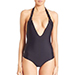 Mikoh Swimwear One-Piece Topanga Macrame Halter Swimsuit