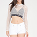 GO Jane Love Wins Netted Sports Mesh Crop Top