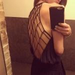 Nicole Lapin in Ramy Brook Maya Sateen Open Back Dress (Instagram June 8, 2017)