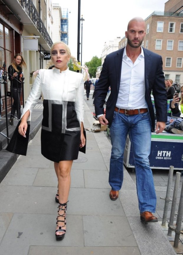 LADY GAGA BODYGUARD|7 Hottest Bodyguards In Hollywood|See More At: http://celebritygossiper.com/7-hottest-bodyguards-in-hollywood/