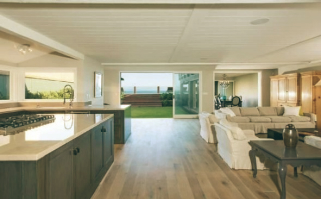 Leonardo DiCaprio Malibu Beach Home celebrity homes modern kitchen
