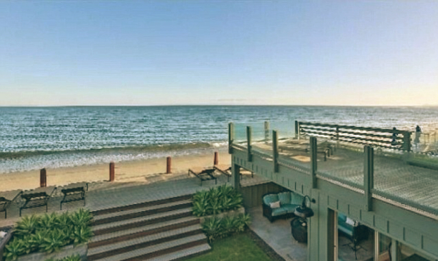 Leonardo DiCaprio Malibu Beach Home celebrity homes deck outside beach