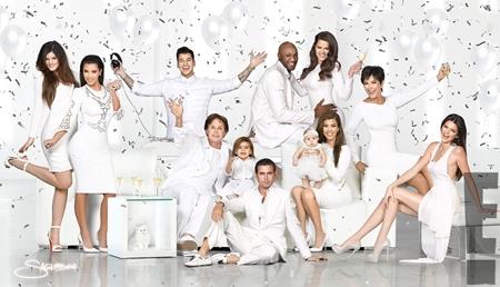 Kardashian Family Christmas Card 2012