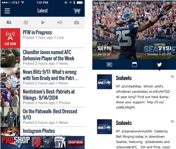 Official Patriots and Seahawks Apps