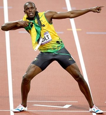 Usain Bolt Height Body Shape