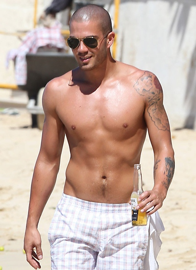 The Wanteds Max George Strips Down to His Underwear—See