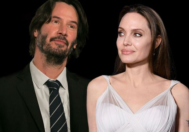 Image result for angelina jolie and keanu
