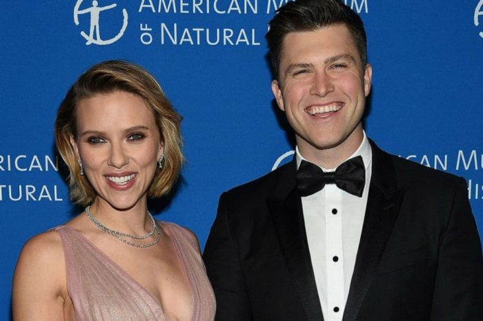Scarlett Johansson Packs On The PDA With Fiance Colin Jost While Hosting Saturday Night Live, Calls Him The Love Of Her Life