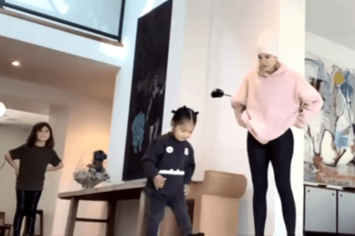 Penelope Disick Tries To Teach Kris Jenner, Khloe Kardashian, And True Thompson How To Do A Cartwheel — Watch The Adorable Video