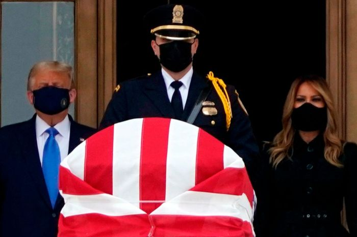 Donald And Melania Trump Get Booed While Attending Ruth Bader Ginsburg's Memorial