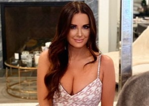 Kyle Richards Shows Off Her Toned Legs In Slinky Mini Dress