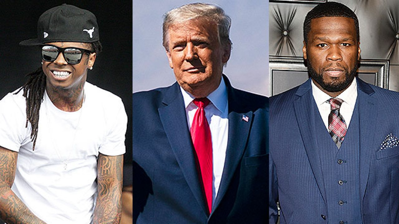 50-cent-drags-lil-wayne-for-taking-pic-with-donald-trump-after-seemingly-showing-the-potus-support-as-well