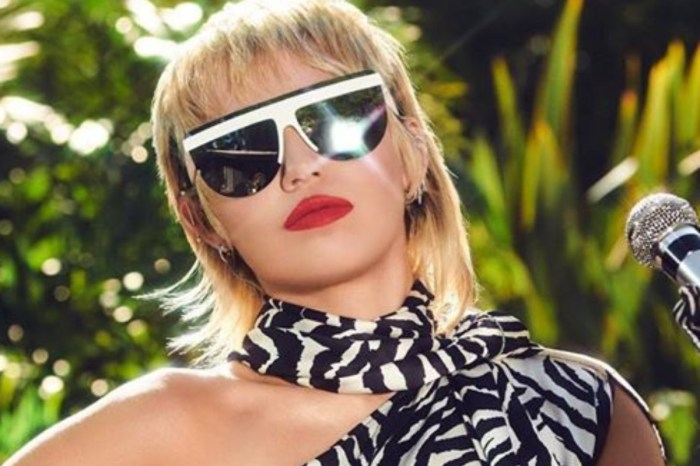 Miley Cyrus Stuns In One Shoulder, Zebra Print Dress — See The Look