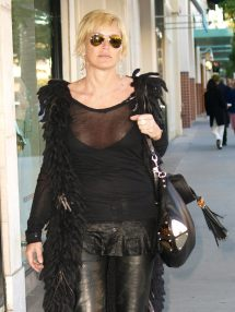 Sharon Stone Shopping In Rodeo Drive Celebrity Oopsies
