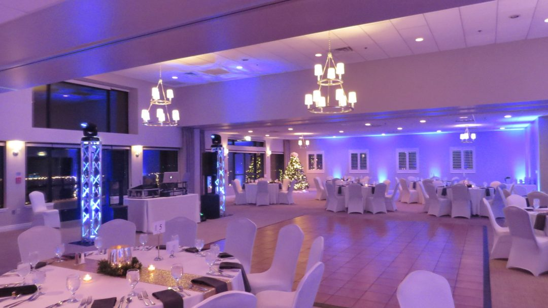 A Celebrity Productions wedding entertainment setup.