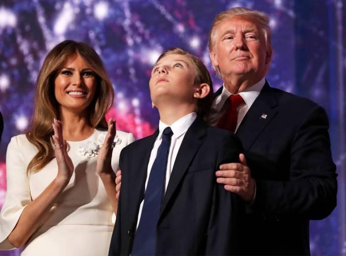Barron Trump, Donald Trump, Melania Trump, Republican National Convention 2016