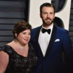 Chris Evans with his sister Shanna Evans