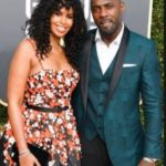 Idris Elba with Sabrina Dhowre