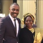 Idris Elba with his mother Eve Elba