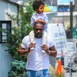 Idris Elba with his son Winston Elba