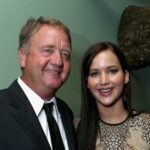 Jennifer Lawrence with his father Gary Lawrence