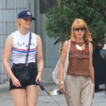 Sophie Turner with her mother Sally Turner