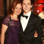 Tom Holland with his mother Nicola Elizabeth