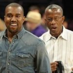 Kanye West with his father