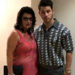 Nick Jonas with his mother Denise Miller-Jonas