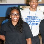 Russell Westbrook with his mother Shannon Horton