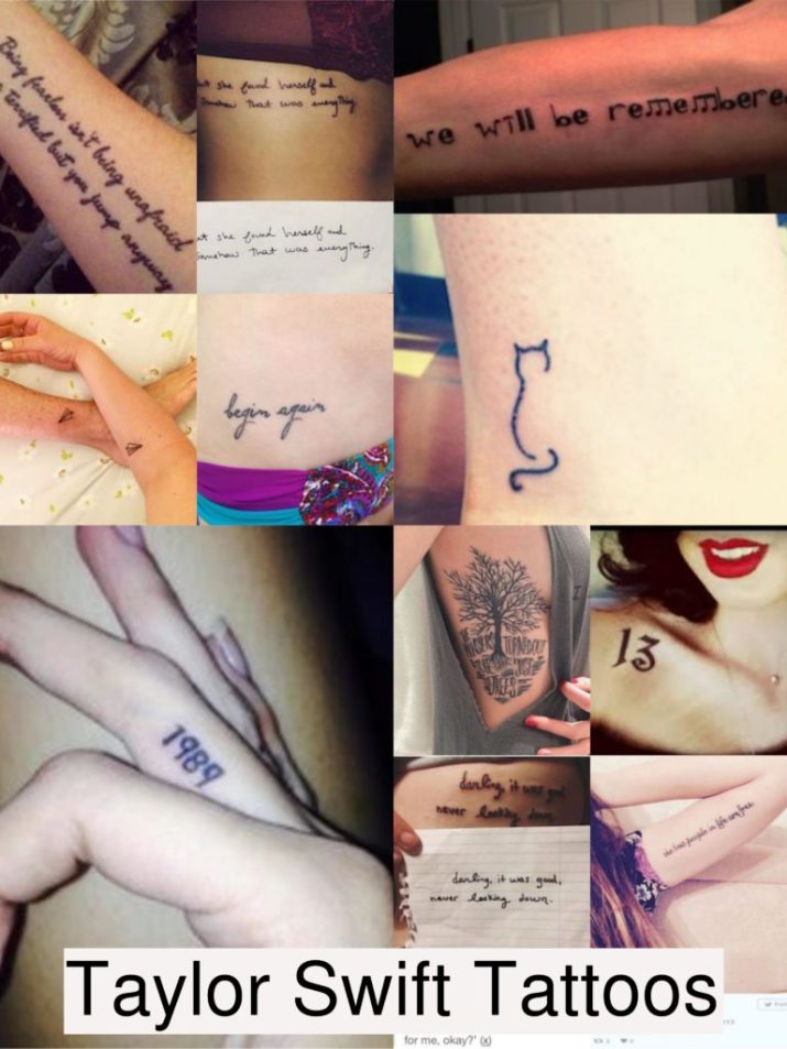 View all tattoos of Taylor Swift