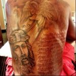 kevin Durant backside tattoos