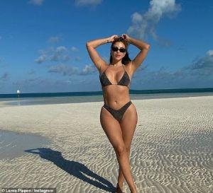 Larsa Pippen in a bikini shot