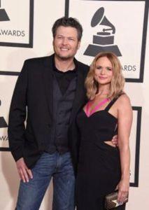 Blake Shelton with ex-wife Miranda Lambert