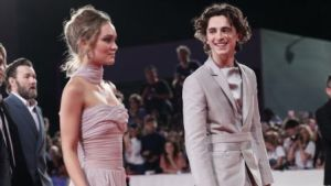 Timothee Chalamet and Rose Lily Depp
