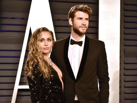 Miley with her ex-husband, Liam Hemsworth
