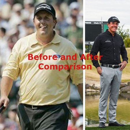 Phil Mickelson Before and After Weight Loss