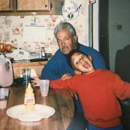 Kyland in a his childhood with his late Grandfather