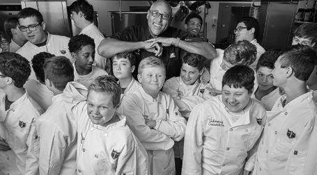 Kevin teaching kids in New Orlean