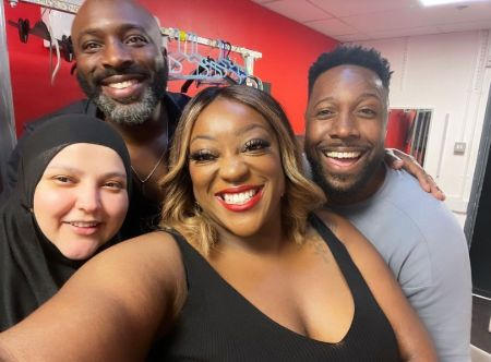 Judi Love and her fellow comedians