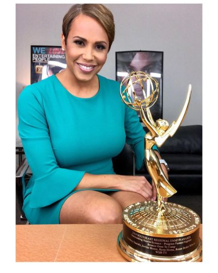 Jovita Moore and her emmy award