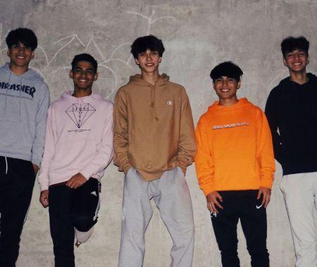 Josh Richard with his gang