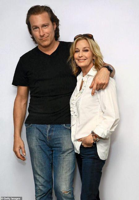 The American actress, Bo Derek with her husband, John Corbett