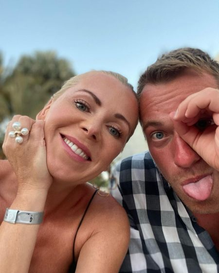 Joanna Krynska and her boyfriend