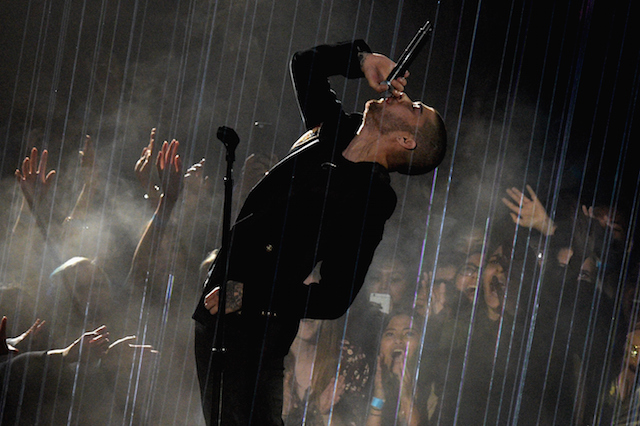 Zayn Malik making his first-ever solo performance at the 2016 iHeartRadio Music Awards. (photo courtesy: iHeartRadio)